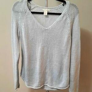 BOGO Free H&M long sleeve v-neck pastel blue knit sweater